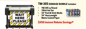 TM-305 Printer With Signage Media Package for Covid Poster Creation for businesses